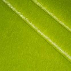 Мех искусственный коротковорсовый зеленый, ш.150