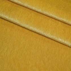 Мех искусственный коротковорсовый оранжево-желтый, ш.150