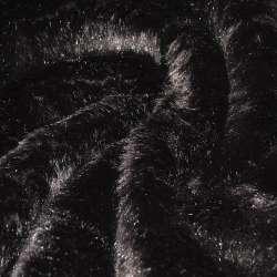 Мех искусственный длинноворсовый коричневый ш.170