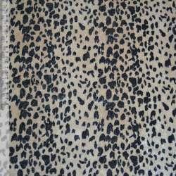 Велюр світло-коричневий чорний принт леопард ш.150