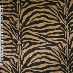 Велюр золотисто-черный зебра ш.150