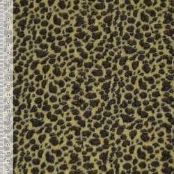 Велюр желто-черный принт леопард ш.150