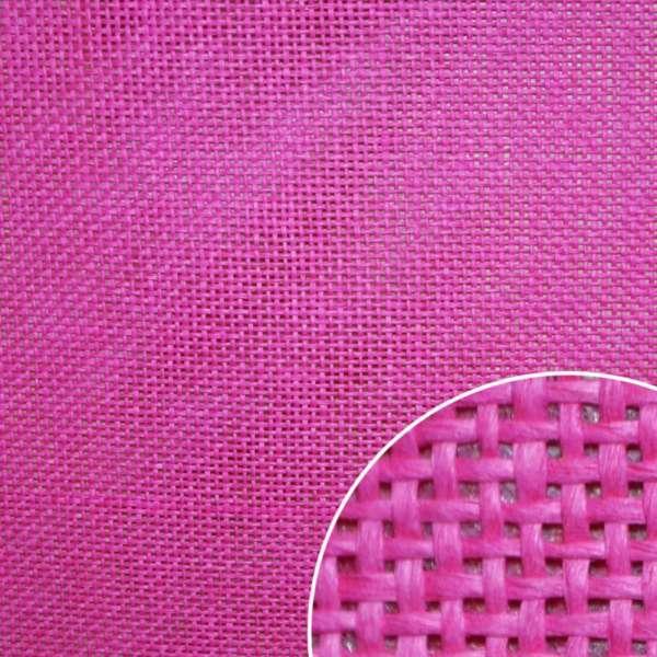 Рогожка из целюлозы на флизелине малиновая, ш.150