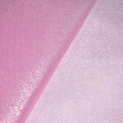 органза розовая с золот. люрексом ш.150