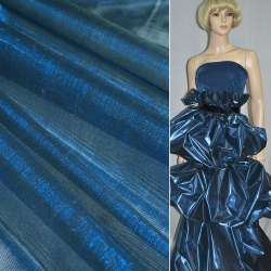 Парча синьо-чорна гладка ш.150