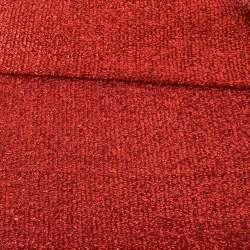 Мерехтливий трикотаж з м'якої мішури червоний, ш.155