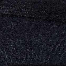 Мерехтливий трикотаж з м'якої мішури чорний, ш.155
