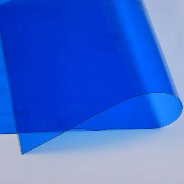 Силікон (0,5мм) синій прозорий ш.122