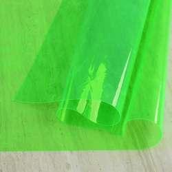 Силікон (0,2мм) салатовий неоновий прозорий ш.122