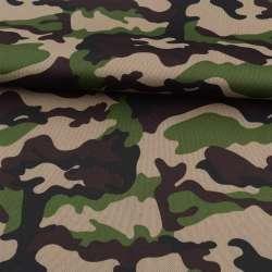 ПВХ ткань оксфорд 600D камуфляж зелено-коричневый ш.150