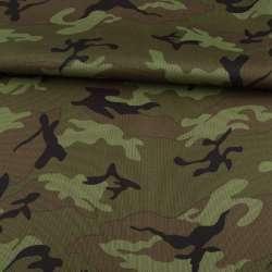 ПВХ ткань оксфорд 600D камуфляж оливково-зеленый ш.155