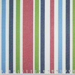 ПВХ тканина Оксфорд 600 D в смужку зелено-синю, вишнево-білу ш.150