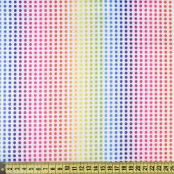 ПВХ тканина Оксфорд рип-стоп біла в райдужні точки, ш.150