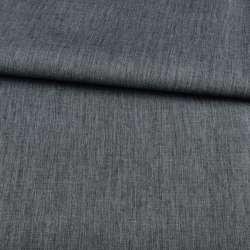 ПВХ тканина Оксфорд льон 300D сіро-синя темна, ш.150