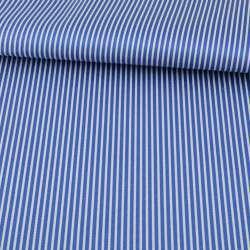 Тканина ПВХ синя в білу смужку, ш.150