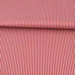 Тканина ПВХ червона в білу смужку, ш.145