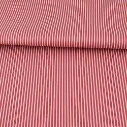 Ткань ПВХ красная в белую полоску, ш.145