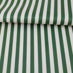 Тканина ПВХ біло-зелена смужка, ш.150