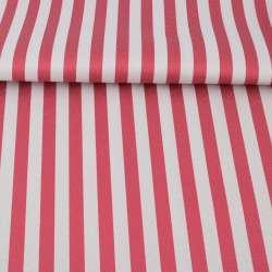 Тканина ПВХ біло-червона смужка, ш.150