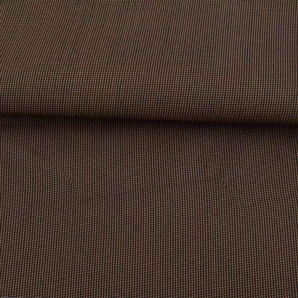 Тканина ПВХ 600D чорна в бежеву крапку, ш.158