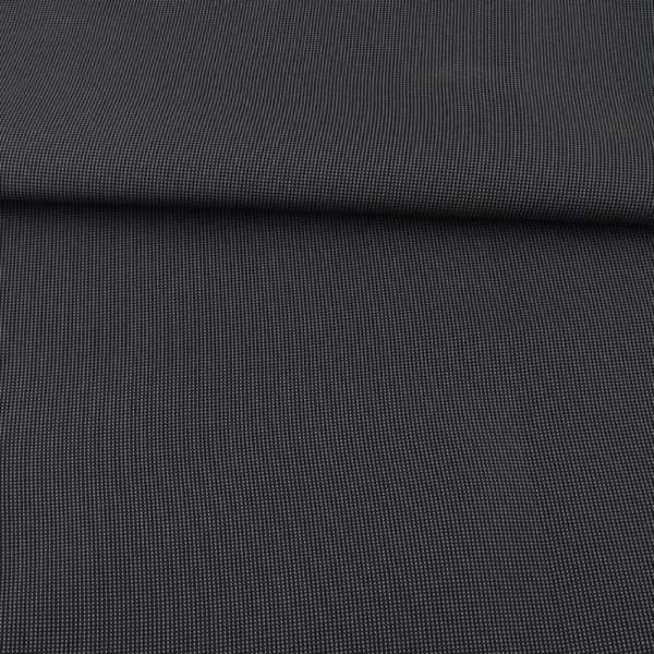 Тканина ПВХ 600D чорна в сіру крапку, ш.157