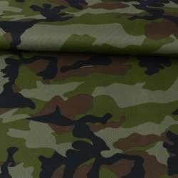 ПВХ тканина оксфорд 600D камуфляж зелено-коричневий, ш.150