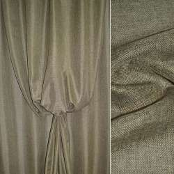 Рогожка оливково-коричнева ш.150