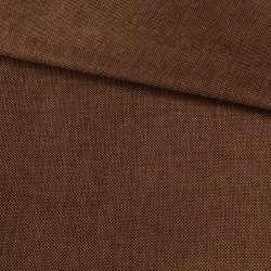 Рогожка деко коричневая темная меланж, ш.150