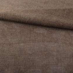 Рогожка деко коричнево-серая меланж ш.150