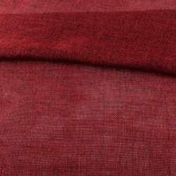 Рогожка деко меланж червона темна, ш.150