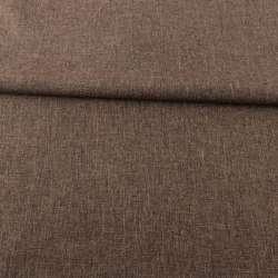 Рогожка деко меланж коричнева, ш.150