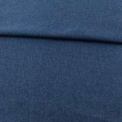 Рогожка деко синя темна, ш.150