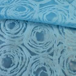 Флизелин неклеевой (спанбонд) голубой с тиснением круги, плотность 80, ш.162