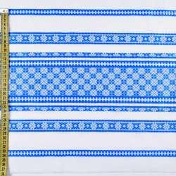 Тканина з українським орнаментом Арлекін, раппорт 40см, ш.150