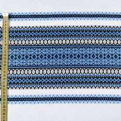 Тканина з українським орнаментом Вікторія, раппорт 70см, ш.150