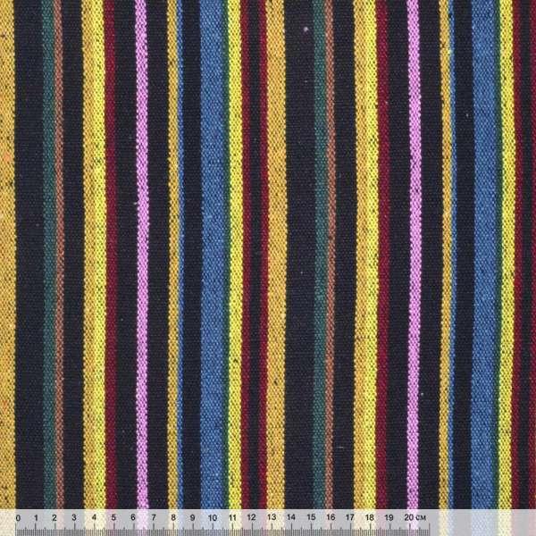 """ткань """"этно"""" желто-синие+розово-черные полоски ш.150"""