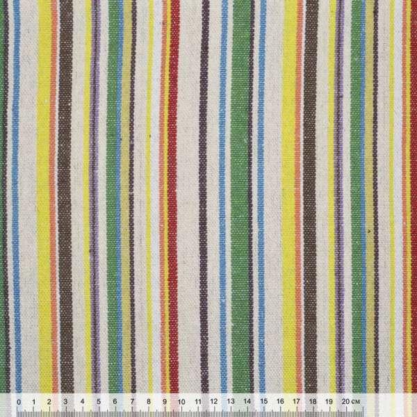 """тканину """"етно"""" молочно-зелений. + коричнево-жовті смужки ш.145"""