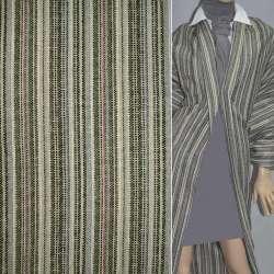 ткань кост.в полоски серые+ черн+ зелен+ малин, ш.150