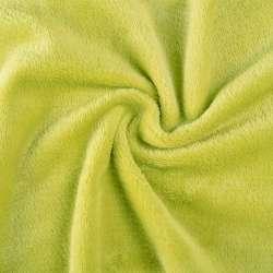 Велсофт (махра) двухсторонний зеленый (желтый шартрез) ш.165