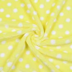 Велсофт односторонний желтый в белый горох ш.185