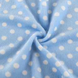 Велсофт односторонний голубой в белый горох ш.180