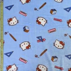 Велсофт двосторонній блакитний, кішечки Кітті, ш.185