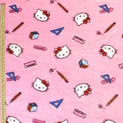 Велсофт рожевий світлий, кішечки Кітті, ш.185
