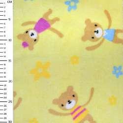 Велсофт-махра жовта ведмежата ш.170