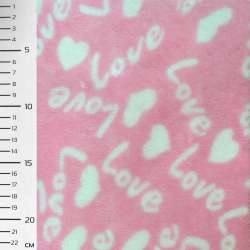 Велсофт-махра рожева LOVE ш.170