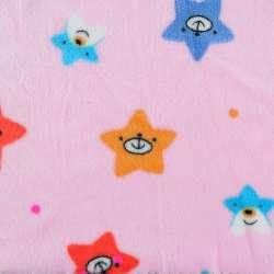 Велсофт двосторонній рожевий, веселі зірочки, ш.190