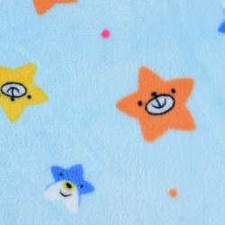 Велсофт двосторонній блакитний, веселі зірочки, ш.180