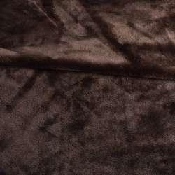 Велсофт двухсторонний коричневый, ш.220