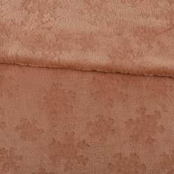 Велсофт двосторонній з тисненням сніжинки коричневий світлий ш.200