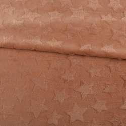 Велсофт двосторонній з тисненням зірочки коричневий світлий ш.200